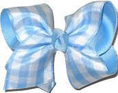 Toddler Light Blue and White Checked Checks and Plaids