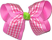 Toddler Hot Pink Check with Neon Lime Knot Checks and Plaids