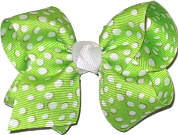 Toddler Apple Green and White Dot Dots
