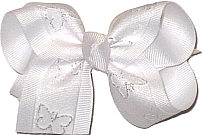 White with Glitter Butterfly Glitter Butterfly