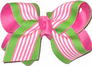 Pink and Apple Green Stripes