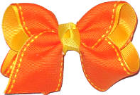 Orange and Maize Saddle Stitch