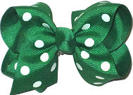 Emerald with White Polka Dots Dots