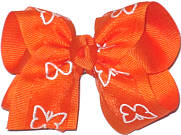 Orange with Glitter Butterfly Glitter Butterfly