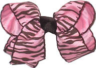 Pink with Brown Moonstitch and Zebra Stripes Stripes