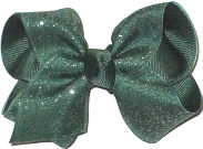 Evergreen Glitter over Evergreen Chiffon Glitter