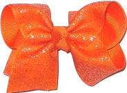 Orange Glitter over Orange Chiffon Glitter