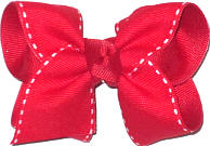 Red with White Stitch Saddle Stitch