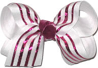 White with Azalea Metallic Stripes and Knot Stripes