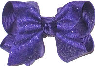 Toddler Regal Purple Glitter over Regal Purple Bow