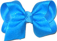 Toddler Island Blue Glitter over Island Blue Bow