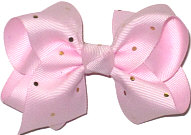Toddler Light Wild Orchid with Metallic Gold Mini Dots Bow