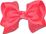Toddler Watermelon with Metallic Gold Mini Dots Bow