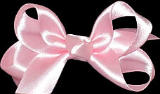 Small Pink Satin Bow