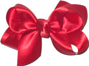 Small Red Satin Bow