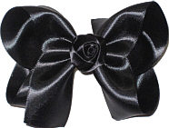 Large Satin Bow with Satin Rosette Center