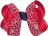 Medium Red Black and White Medium Overlay School Bow