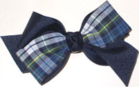 Toddler Navy Plaid Bow