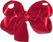Medium Red Velvet Bow