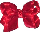 Toddler Red Velvet Bow