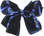 Large Navy Velvet Bow