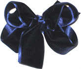 Medium Navy Velvet Bow
