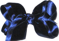 Toddler Navy Velvet Bow