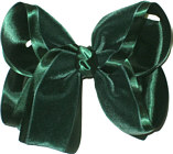 Large Evergreen Velvet Bow