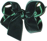 Medium Evergreen Velvet Bow