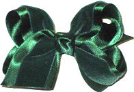 Toddler Evergreen Velvet Bow