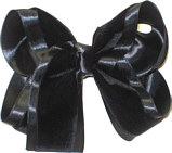 Large Black Velvet Bow