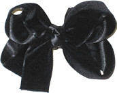 Medium Black Velvet Bow