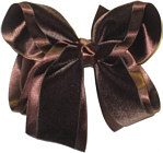 Large Brown Velvet Bow