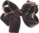 Medium Brown Velvet Bow