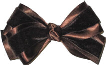 Toddler Brown Velvet Bow
