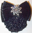 Black Velvet with Star Rhinestone Pin Snood