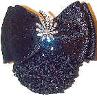 Black Velvet Comet Rhinestone Pin Snood