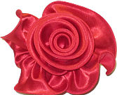 Large Red Satin Rosette Bow