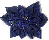 Large Lt Navy Fashion Rosette Bow