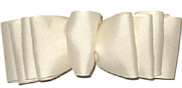 Large Creme Grosgrain Spectator Style Bow